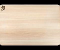 Shun Medium Hinoki cutting board flat view