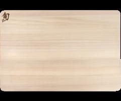 Shun Large Hinoki cutting board flat view