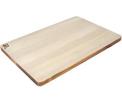Large Hinoki Board with Urushi edge angle view