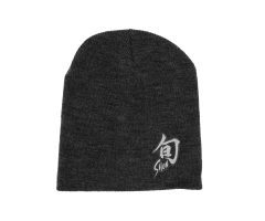 Grey Shun Beanie with embroidered logo
