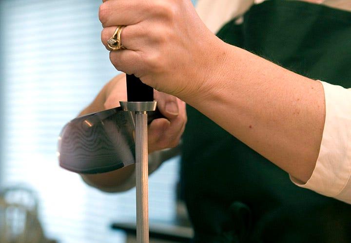 Honing Santoku knife